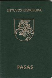 Литовский паспорт 2003-2006 года.